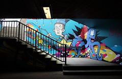 Colorful stairs (frankhurkuck) Tags: hannover germany deutschland norddeutschland nds niedersachsen tunnel treppe stairs stairway graffiti raschplatz farben color