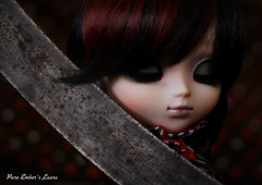 Caress (pure_embers) Tags: pure embers pullip doll laura uk england girl pureembers pulliplaura english photographer photography picture gothic circus show ringmaster stock blade dark
