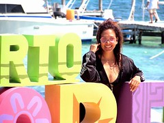 Sunny day (thomasgorman1) Tags: sea ocean caribbean mexico person woman boat pier