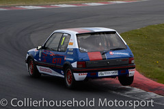 Classic Stock Hatch - R2 (4) Matt Rozier (Collierhousehold_Motorsport) Tags: 750mc 750motorclub 750 snetterton snetterton300 classicstockhatch gti peugeot citroen vauxhall saxo stockhatch ford