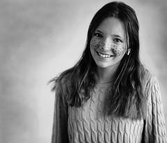 Sara - easter ready :-) (Explored) (DanielSvensson) Tags: bw blackwhite svartvit påsk easter