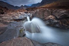 The land of mysterious shapes and falls (PeterYoung1.) Tags: atmospheric beautiful falls fairlieglenfalls fairypools landscape nature peteryoung1 rocks scenic scotland scottish skye isleofskye uk waterfall