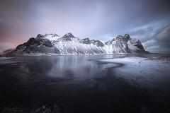 stokksnes blue hour (philippe MANGUIN photographies) Tags: islande iceland neig winter hiver stokksness austurland hornafjörður
