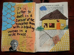 Brawling Woman (artsychicksw) Tags: woman art altered book mixed women media journal journaling