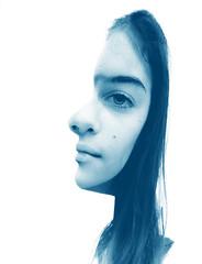Mirella (vanessaaa*) Tags: blue profile headshot illusion mindblown