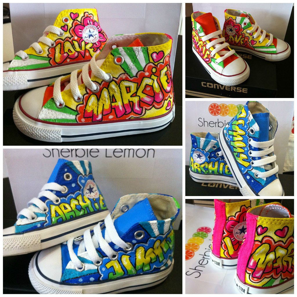 a53a2bee932b3f graffiti converse (Sherbie lemon) Tags  kids graffiti lemon toddler shoes  hand painted converse