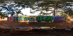P1030361 Panorama-2 (scloopy) Tags: sanfrancisco panorama graffiti gun battery spherical equirectangular