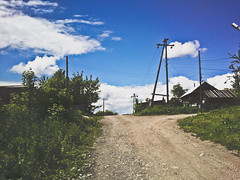 () Tags: summer sky countryside town russia powerlines siberia  altai