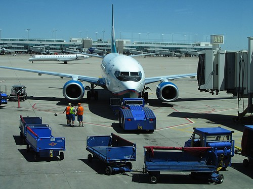 Aircraft Ready For Pushback -- Plane Spotting In Concourse A -- AirTran Departure To Cancun -- Denver International Airport -- 2013