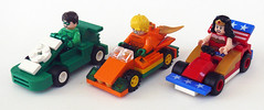 JLA Racers (Oky - Space Ranger) Tags: friends woman green america wonder justice dc lego patriotic super jordan batman hal heroes lantern racers universe league aquaman