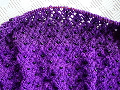 Cousin Violet - close-up in progress (kizzie56) Tags: knitting purple lace merino shawl beaded handdyed keiranfoley cousinviolet colorshiftcolorbridge