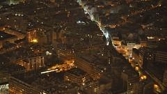 Paris after dark from the Summit, Eiffel Tower, Paris