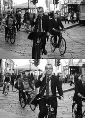 Albanese [Pedala] nel[La Mia Città] (Urca) Tags: portrait blackandwhite bw italia milano bn ciclista biancoenero bicicletta albanese pedalare 2013 dittico ritrattostradale 57921