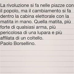 Paolo Borsellino (SALA AVVOCATI) Tags: sala popolo elezioni saf giudice citazione borsellino rivoluzione votazioni aforisma citazioni avvocati salavvocatifrascati