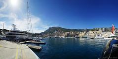 Welcome to Monaco! (OR_U) Tags: sea sky panorama mountains water skyline landscape boats cityscape monaco yachts oru motorboats sailboats quai stitched ulysses yachtclub waterscape 2013 tenaz quairainier