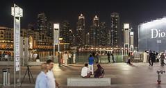 Dancing fountain pool in front of Burj Khalifa (Tiigra) Tags: 2013 dubai architecture city lantern light night pool unitedarabemirates