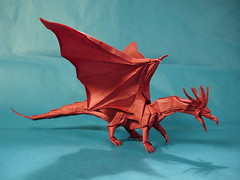 Ancient Dragon - Kamiya (shuki.kato) Tags: paper ancient origami dragon tissue double mc fold satoshi kamiya