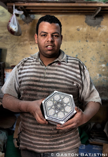 The son. Marquetry box maker. Bab Zweila, Cairo, Egypt