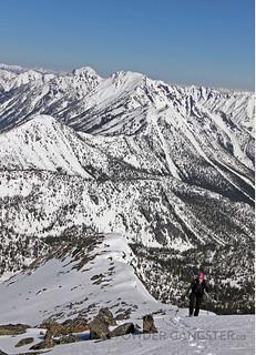 Approaching the ridge summit