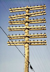 RR Telegraph Line (en tee gee) Tags: old railroad newyork glass pole telegraph insulators