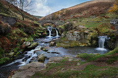 Three Shires Head (PentlandPirate of the North) Tags: bridge autumn river waterfall cheshire district derbyshire peak views million dane staffordshire pennines 1000000 threeshireheads