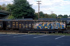 Scoop3 - on CSXT 484458 at Richmond VA Oct 2, 2013 (cogp39) Tags: graffiti trains gondola freightcars 2013 scoop3