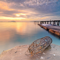 Left Behind (Sir Mart Outdoorgraphy) Tags: sea seascape beach sunrise landscape dawn jetty scape scapes thesun gnd singhray leefilter jelutongexpressway matahariterbit sirmart outdoorgraphy outdoorgraphystudios rgnd mataharinaik sinaranmatahari jelutongfishermansjetty