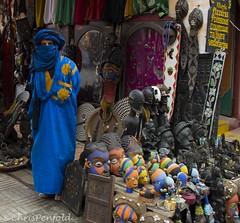 Tuareg stall (chrispenfold) Tags: africa shop jewellery masks morocco berber maroc souk medina essaouira tuareg afrique