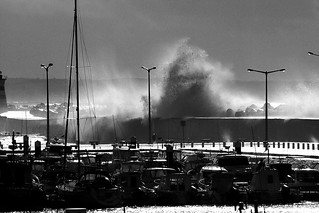 Peniche Harbour (Portugal) 9 set 2010 storm