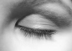 closed eye (coellerich) Tags: portrait blackandwhite bw eye face gesicht faces makro auge zd gesichter closedeye schwarzweis mconp01 olympuspl5 1445mm