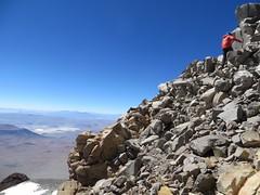 Reaching the summit of Llullaillaco (Pikes On Bikes) Tags: argentina hiking bikes 9 climbing biking summit pikes volcanoes touring salta puna llullaillaco