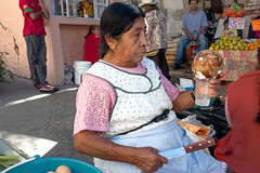 Lady Preparing Coconut Water _0048 (hkoons) Tags: flowers food men vegetables fruit shopping mexico women commerce market vegetable business commercial shops bazaar agriculture sales salesmen stalls salesman hidalgo centralmexico pachuca vendors saleswomen