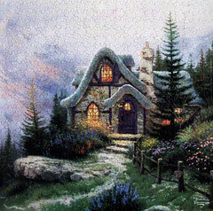 """""""Sweetheart Cottage"""" (Happy Valentine's Day to All!) (Puzzler4879) Tags: puzzles puzzling thomaskinkade kinkade jigsaws jigsawpuzzles sweetheartcottage artisticpuzzles {vision}:{outdoor}=096 {vision}:{mountain}=0588 sweetheartcottageiii"""