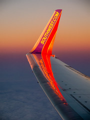 winglet (alex1derr) Tags: sunrise dawn contrail wing aerial southwestairlines