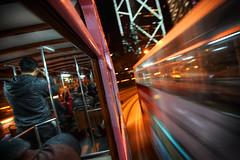 (briyen) Tags: motion blur movement tram hong kong passing