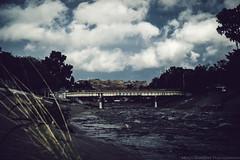 Overland Bridge [EXPLORED] 2.28.14 #78 (DesmondsPhotos) Tags: bridge sky water architecture clouds river landscape outdoors la scenery stream cityscape flood sony 78 a7r