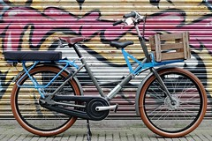 WorkCycles Fr8 Uniframe 7022 grey w 5015 blue (@WorkCycles) Tags: blue dutch amsterdam bike bicycle grey cushion fr8 7022 5015 transportfiets moederfiets workcycles mamafiets papafiets
