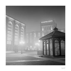 Foggy night (bolas) Tags: fog night lights industrial factory kodak trix foggy va agfa lodz d xenar rolleicord duoscan t1200