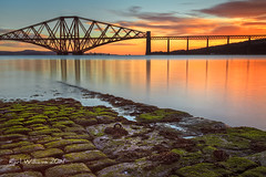 Forth Bridge (3) (Shuggie!!) Tags: longexposure seascape seaweed architecture sunrise landscape scotland bridges railways lothians hdr harbours riverforth southqueensferry jetties forthbridges zenfolio