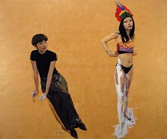 Yu Hong (1966- ) - 2007 Us Two: Yu Hong and Zhao Bo No. 2 (Private Collection) (RasMarley) Tags: portrait selfportrait modern female contemporary chinese painter 2007 yuhong 2000s 21stcentury doubleportrait privatecollection artistportrait cynicalrealism ustwoyuhongandzhaobono2