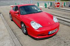 Porsche 996 GT3 MkII (D's Carspotting) Tags: porsche 996 gt3 mkii france coquelles calais red 20100613 lk53hhx le mans 2010 lm10 lm2010