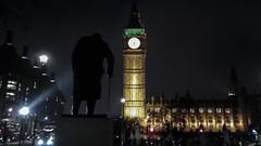 Churchill facing Big Ben (olivierr31) Tags: londres london churchill bigben westminster
