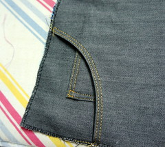 Jeans_topstitching_front (Two_tango) Tags: jeans denim pants trousers hose nähen sewing garments diy crafting