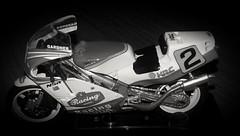 Honda NSR 500 Of Wayne Gardiner 1987 (Gary Chatterton 6 million Views) Tags: waynegardner hondansr nsr 500 worldchampion 1987 motorracing motorcycle motorbike hondaracing flickr blackandwhite