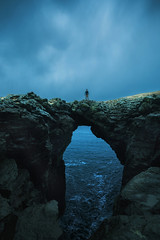 bridge over troubled water (Andy Kennelly) Tags: iceland winter february rocks storm stormy clouds bridge ocean cold