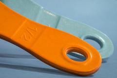 How do you measure up? (Marcy Leigh) Tags: macromondays macro orange blue orangeandblue howdoyoumeasureup measure cook kitchen bake utensils kitchenutensils hmm happymacromonday tamron tamron90mm