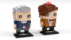 Doctor who - 11th e 12th Doctor Brickheadz (pklego2120) Tags: lego brickheadz doctor who 12th 11th capaldi smith