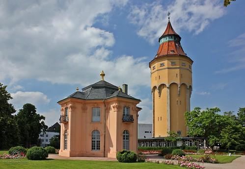 Rastatt -- Pagodenburg & Wasserturm im Juni 2012