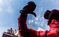 Transgender celebrating Holi series @ Nandgaon,Mathura. (vjisin) Tags: red holi colours springfestival india incredibleindia indianheritage asia nikond3200 nikon indianboy action nandgaon mathura uttarpradesh brajholi joy temple surreal people happiness iamnikon festival travelphotography travel transgender hijra