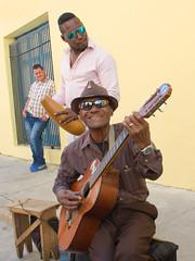 Havana buskers edit  16x12 (Tilly's pics) Tags: havana cuba buskers guitar onlooker street entertainers